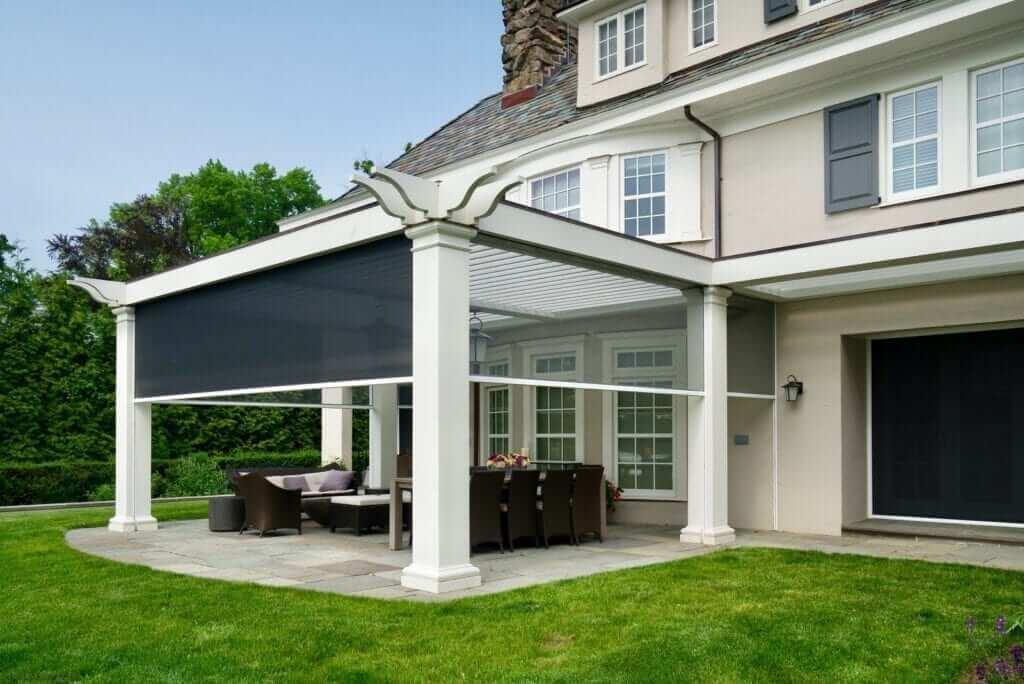 Skyview retractable porch screen